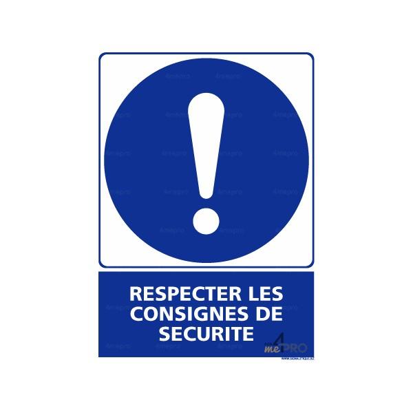 e885ba9b19f Panneau rectangulaire Respecter les consignes de sécurité 2
