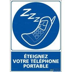 Panneau vertical Eteignez votre téléphone portable