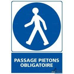 Panneau rectangulaire Passage piétons obligatoire