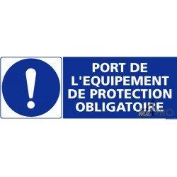 Panneau rectangulaire Port de l'équipement de protection obligatoire