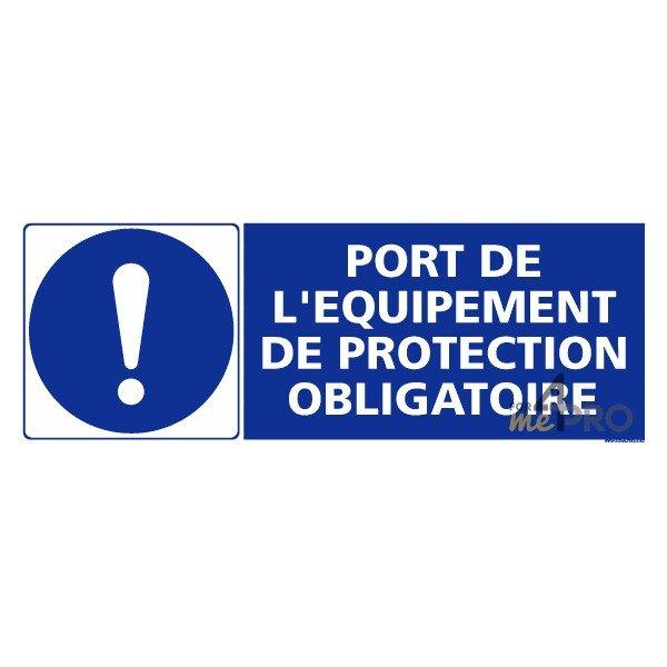 panneau rectangulaire port de l 233 quipement de protection obligatoire 4mepro