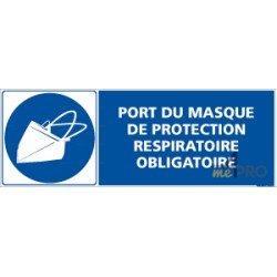 Panneau rectangulaire Port du masque de protection respiratoire obligatoire 1