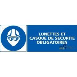 Panneau rectangulaire Lunettes et casque de sécurité obligatoires 4fb4261e68fc