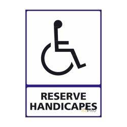 Panneau vertical Reservé handicapés