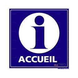 Panneau carré Accueil