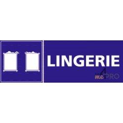 Panneau rectangulaire Lingerie avec pictogramme