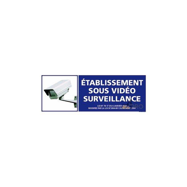 panneau rectangulaire etablissement sous video surveillance 2. Black Bedroom Furniture Sets. Home Design Ideas