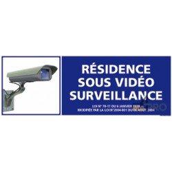 Panneau rectangulaire Résidence sous vidéo surveillance 1