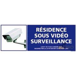 Panneau rectangulaire Résidence sous vidéo surveillance 2