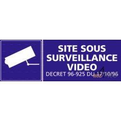 Panneau rectangulaire Site sous surveillance vidéo 1