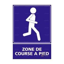 Panneau d'information extérieure rectangulaire Zone de course à pied