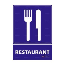 Panneau d'information de restauration rectangulaire Restaurant 1