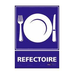 Panneau d'information de restauration rectangulaire Réfectoire 3