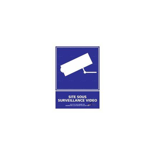 Information Site: Panneau D'information Site Sous Surveillance Vidéo