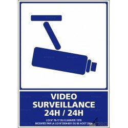 Panneau d'information Video surveillance 24h/24h