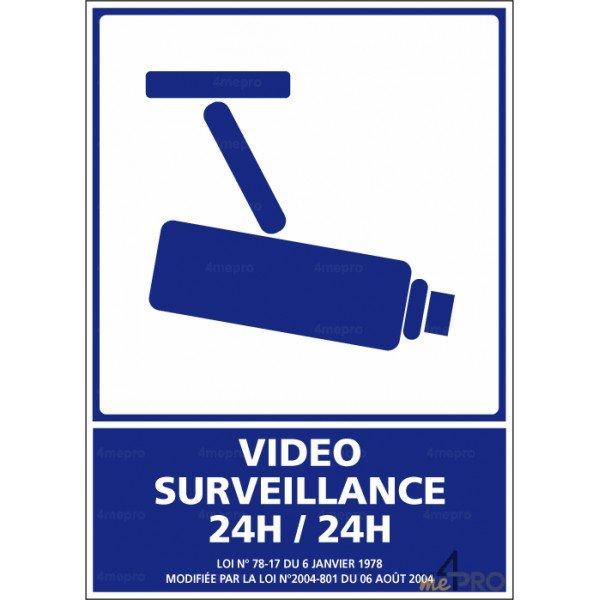 panneau d 39 information video surveillance 24h 24h 4mepro. Black Bedroom Furniture Sets. Home Design Ideas