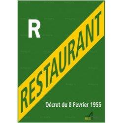 Panneau rectangulaire Licence restaurant