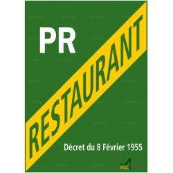 Panneau rectangulaire Licence petit restaurant