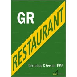 Panneau rectangulaire Licence grand restaurant