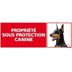 Panneau de signalisation Propriété sous protection canine 1