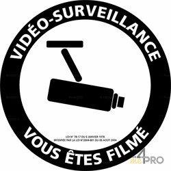 Panneau de signalisation Video surveillance vous êtes filmés 1