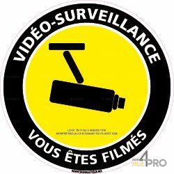 Panneau de signalisation Video surveillance vous êtes filmés 2