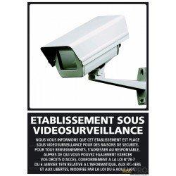 Panneau de signalisation Etablissement sous video surveillance