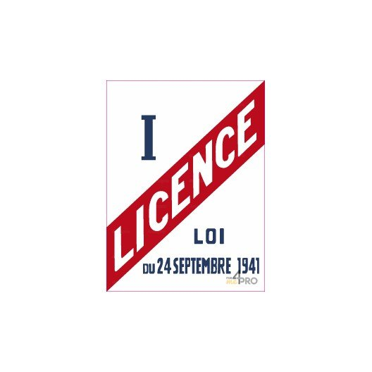 Panneau rectangulaire Licence I