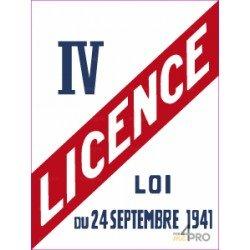 Panneau rectangulaire Licence IV