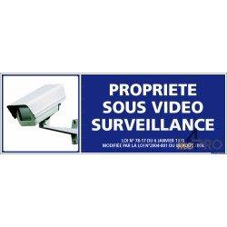 Panneau de sécurité Propriété sous vidéo surveillance 1