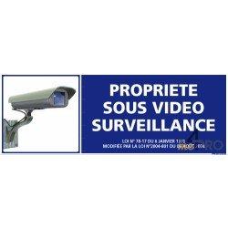 Panneau de sécurité Propriété sous vidéo surveillance 2
