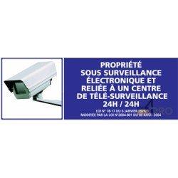 Panneau de sécurité Propriété sous surveillance électronique et relié à un centre de télé surveillance 24h/24 (1)