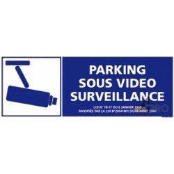 Panneau de sécurité Parking sous vidéo surveillance 3