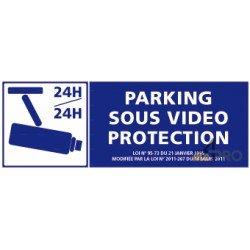Panneau de sécurité Parking sous vidéo surveillance 4