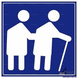 Panneau carré Personnes âgées