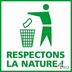 Panneau carré Respectons la nature