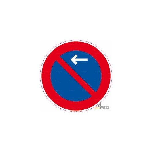 panneau stationnement interdit avec fl che en haut vers la gauche. Black Bedroom Furniture Sets. Home Design Ideas