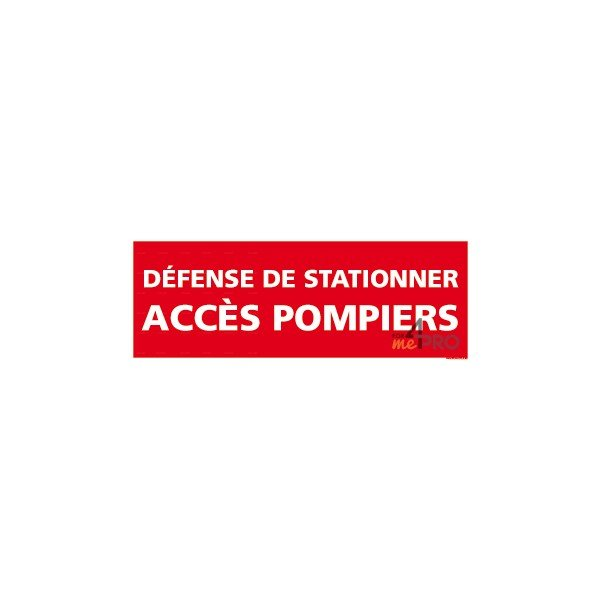 panneau rectangulaire d fense de stationner acc s pompiers. Black Bedroom Furniture Sets. Home Design Ideas