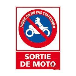 Panneau rectangulaire vertical Prière de ne pas stationner - Sortie de moto 2