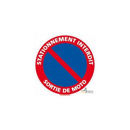 Panneau stationnement interdit sortie de moto 4mepro - Panneau de stationnement interdit ...
