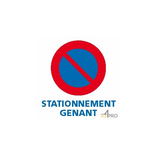 Autocollant dissuasif Stationnement gênant