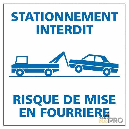 Autocollant dissuasif Stationnement interdit