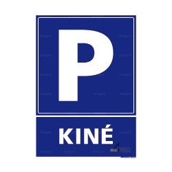 Panneau de parking rectangulaire vertical Kiné