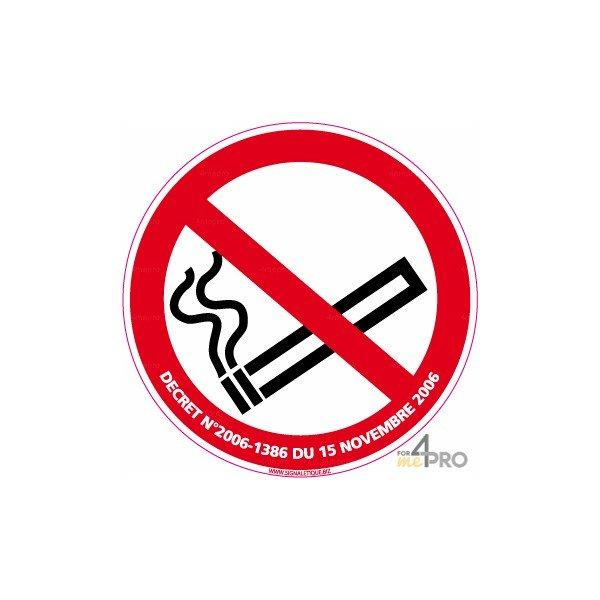 panneau rond interdiction de fumer 3 4mepro. Black Bedroom Furniture Sets. Home Design Ideas