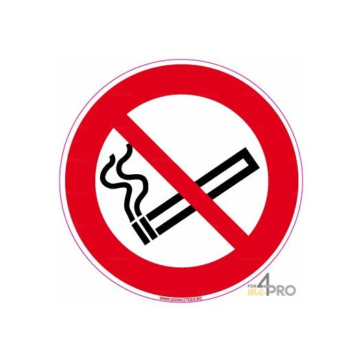 panneau rond interdiction de fumer 6 4mepro. Black Bedroom Furniture Sets. Home Design Ideas