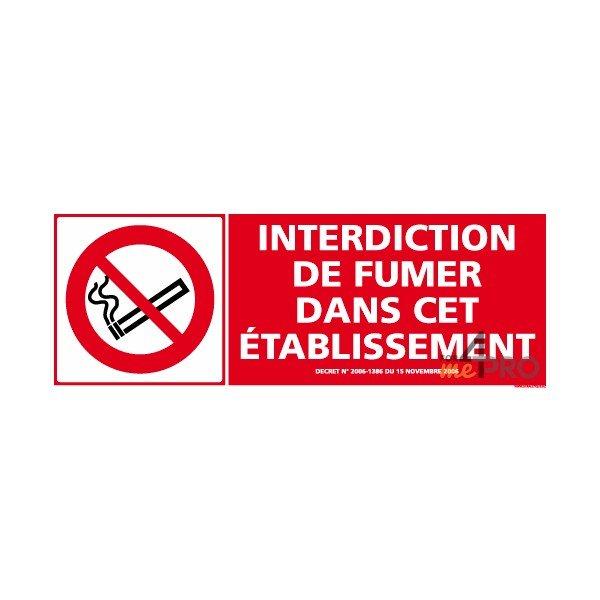 panneau de signalisation interdiction de fumer dans cet. Black Bedroom Furniture Sets. Home Design Ideas