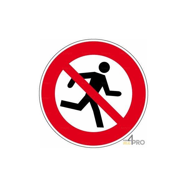 Panneau interdiction de courir 4mepro for Panneau stationnement interdit devant garage