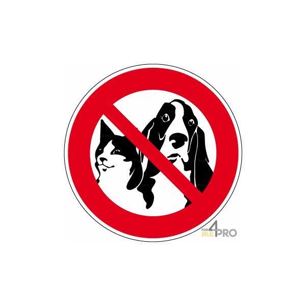 Panneau interdiction aux animaux 4mepro - Panneau signalisation interdiction ...