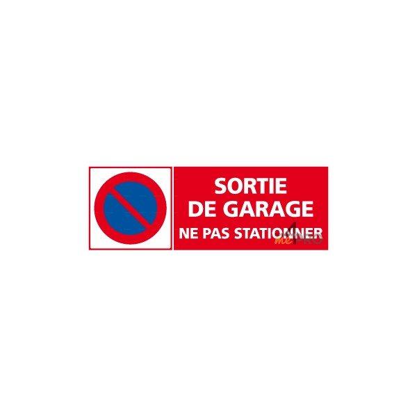 Panneau rectangulaire sortie de garage ne pas stationner for Panneau d interdiction de stationner devant un garage
