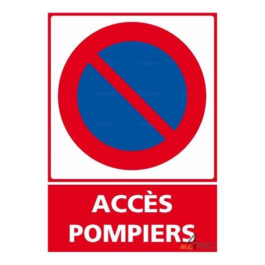 panneau stationnement interdit acc s pompiers 4mepro. Black Bedroom Furniture Sets. Home Design Ideas